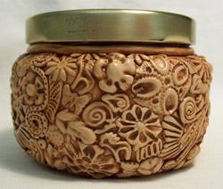 textured jar